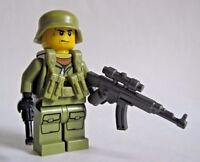 Lego Custom WWII GERMAN SCOUT Minifigure feat. Brickforge BrickArms WW2 Soldier