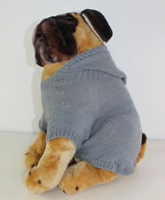 PRINTED KNITTING INSTRUCTIONS - SIMPLE  DOG HOODIE COAT KNITTING PATTERN