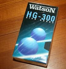 3 Stück neue Videokassetten WATSON - E 300 - EHG - original eingeschweißt !!!
