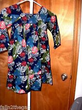 GIRLS SIZE ( 4 ) * BABY GAP * DARLING  FLORAL DRESS WITH HALF SLIP MADE IN NWT