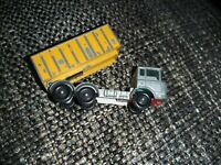 VINTAGE MATCHBOX LESNEY MODEL No 47 DAF TIPPER CONTAINER TRUCK SILVER WITH BOX