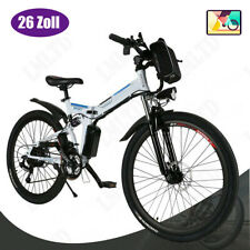 26INCH Electric Bike E-Bike Mountain Bicycle Foldable Shimano Cycling 21Speed US