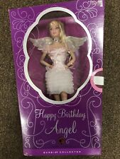 2008 Barbie Happy Birthday Angel Pink Label With Musical Stand NIB