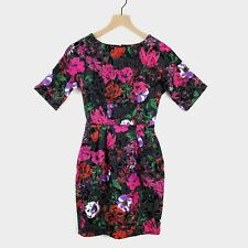 ASOS Petite Floral Quilted Embroidery Dress Short Sleeves 2