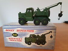 DINKY MECCANO SUPERTOYS 661 ARMY RECOVERY TRACTOR TRUCK + DRIVER IN ORIGINAL BOX