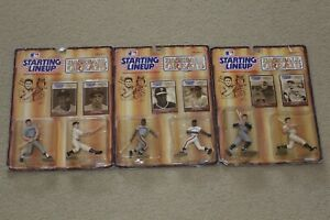 1989 starting lineup slu mickey mantle babe ruth mays dimaggio action figure lot