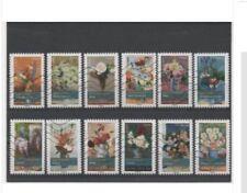 Lot série timbre france adhésif complète flore bouquets de fleurs 2015