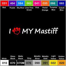 I Love My Mastiff Vinyl Decal Sticker Laptop Pet Paw Dog