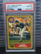 1987 Topps Traded Tiffany Greg Maddux Rookie Card RC #70T PSA 10 Cubs Q994