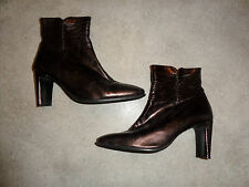 Ladies Real Leather Boots Shoes Size UK 6 EU 39
