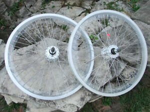 20x1.75 Weinmann DM30 BMX Wheel Set Aluminum Double Wall Flip Flop Rear Hub 14mm