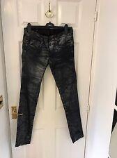 Calvin Klein women's skinny jeans, size W30/L32, Silver Metallic RRP £135