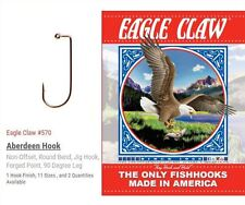 EAGLE CLAW 570 BRONZE JIG HOOK - SIZE #4/0 - 1000 PER PACKAGE - FREE SHIPPING