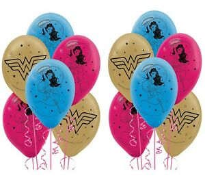 YOUNG DC Wonder Woman Latex Balloons (12) Girls Birthday Party Decoration Supply