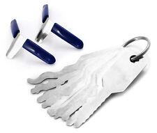 Set 12pcs Double Sided Car Jiggler Keys Padlock Key Lock Pick Opener Tools