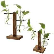 Glass Flask Hanging Flower Vase Stand Hydroponic Plant Container Terrarium Pot