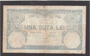 100 LEI FINE BANKNOTE FROM ROMANIA 1907  PICK-14 HYPER  RARE DATE!