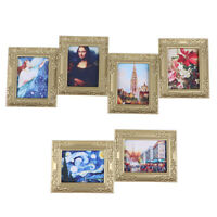 1:12 Dollhouse Miniature Frame Oil Painting DIY Doll House Accessories Decor Fy
