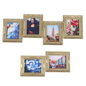 1:12 Dollhouse Miniature Frame Oil Painting DIY Doll House Accessories De&hl
