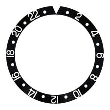 BEZEL INSERT FOR ROLEX GMT MASTER SAPAHIRE 16700 16710 16713 16718 16760 BLACK