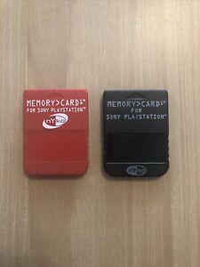 Lot Of 2 PlayStation 1 PS1 NYKO Memory Cards - FREE SHIPPING!