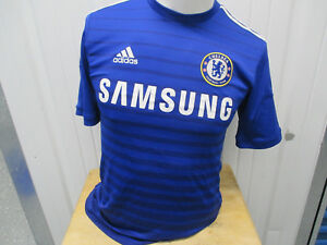 ADIDAS CHELSEA F.C. DIEGO COSTA #19 SEWN SMALL HOME JERSEY 2014-2015 KIT PREOWNE