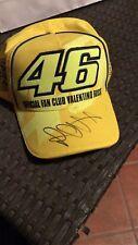 valentino rossi signed autografo autentico cappello fan club yamaha VR 46