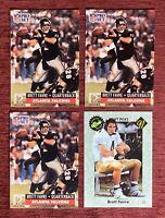 Lot of (4) 1991 Pro Set & Classic BRETT FAVRE Rookie Cards #762 RC Packers HOF🔥