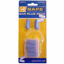 """""""LOOK"""" 3 prs B-Safe Soft Foam Disposable Ear Plugs SNR-37db in Carry Box PPE UK"""