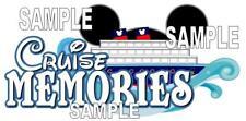 Disney Cruise Memories Scrapbook Paper Die Cut Piece