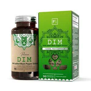 DIM Supplement 150mg (W/ Black Pepper Extract) Diindolylmethane | Broccoli Kale