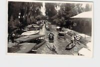 RPPC REAL PHOTO POSTCARD MEXICO XOCHIMILCO BOATS ON WATER #4