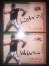 Mike Mussina auto refractor lot 2000 Fleer Autographics #'d /50 and /250 rare!