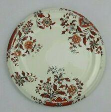 "Antique Porcelain Red & Gold Gilt 8.5"" Floral Teapot Stand"