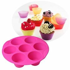 DIY 7 Cavity Silicone Soap Cake Mold Chocolate Muffin Cupcake Baking Mould Pan