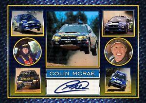 Colin McRae V2 - Subaru World Rally - Signed Autograph Photo Print Memorabilia
