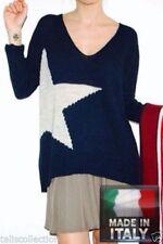 Acrylic V-Neckline Knit Tops & Blouses for Women