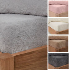 Teddy Fleece Fitted Sheet Thermal Warm Single Double King Bedding NEW