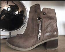 Celsa Boots Stiefeletten ~ BULL BOXER ~  Echtleder Biker Stiefel Gr 37 Taube