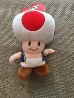 "Toad Plush Super Mario Bros Nintendo Licensed 8"" Plushy Toy DOLL w/tag Toy"