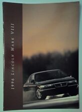 LINCOLN MARK VIII orig 1996 USA Mkt Large Format Prestige Sales Brochure
