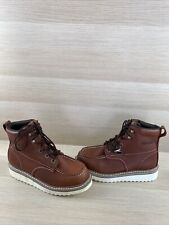 Wolverine T-Bone Brown Leather Steel Toe Lace Up Work Boots Men's Size 8.5 M