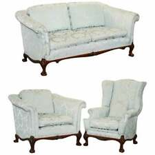 STUNNING RRP £18,000 BRIGHTS OF NETTLEBED THREE PIECE SOFA & ARMCHAIR SUITE