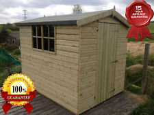 7x5 Wooden Apex Sheds Store Hut Summerhouse Timber T&G