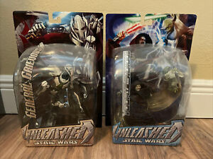 2005 STAR WARS UNLEASHED GENERAL GRIEVOUS - YODA SIDIOUS MOC - (2) Lot