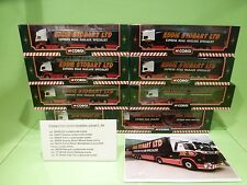 CORGI SET OF 8x TRUCKS VOLVO SCANIA ERF DAF - EDDIE STOBART LTD 1:64 - NMIB