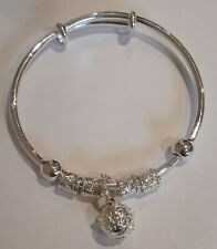 Silver Tone Bell Detail Bangle