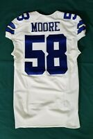 #58 Moore of Dallas Cowboys NFL Locker Room Game Issued Jersey
