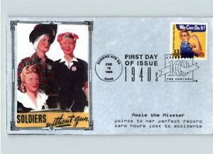 "ROSIE the RIVETER, Celebrate the Century 1940s ""Soldiers without Guns"" First Day"