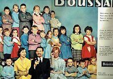 Publicité Advertising 067  1957  Boussac  ( 2 pages)  tissus tabliers enfants